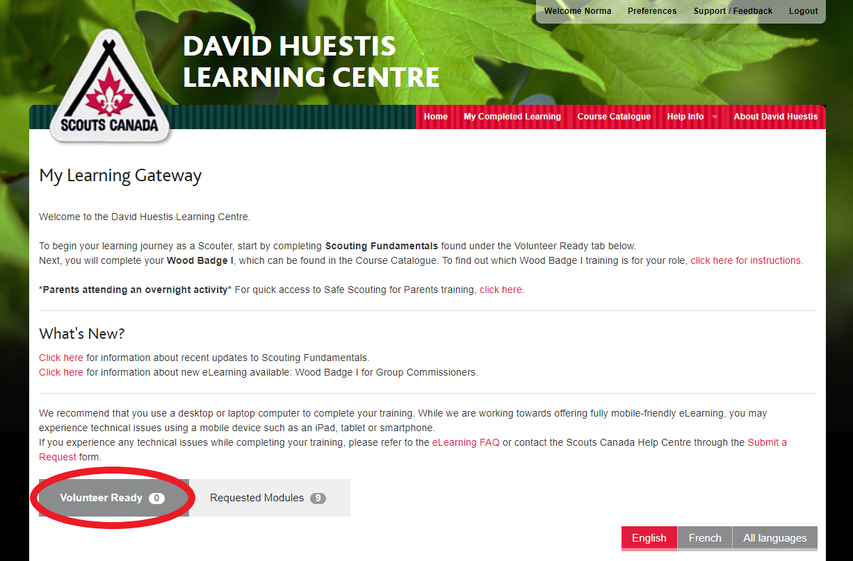 DAVID HUESTIS Learning Centre